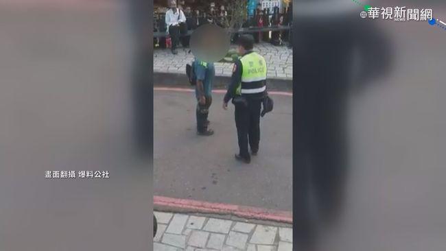 醉男騷擾街頭藝人 竟還拿磚頭襲警