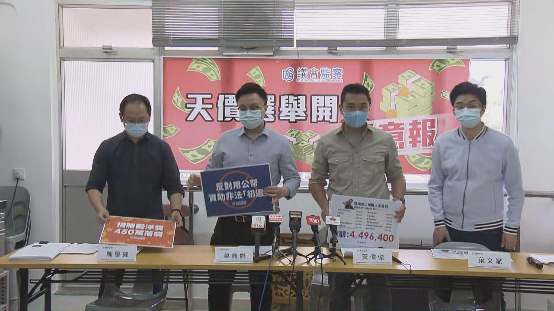議會監察質疑非建制派參選人亂報開支