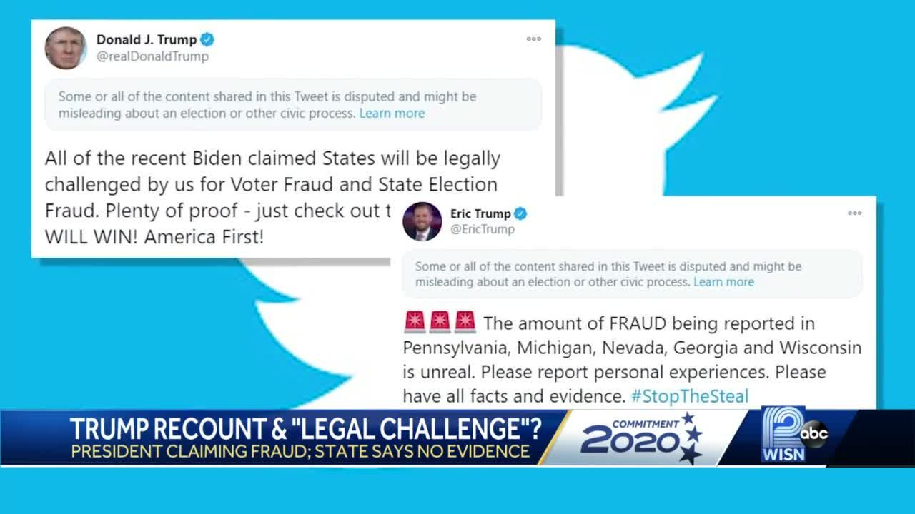 Without Evidence Trump Tweets About Fraud In Wisconsin