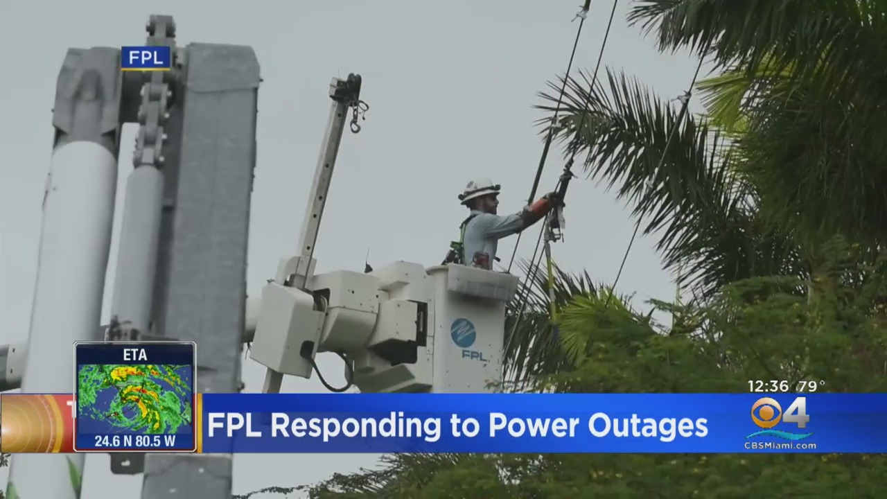 Fpl Working To Restore Power To Tens Of Thousands Of Customers