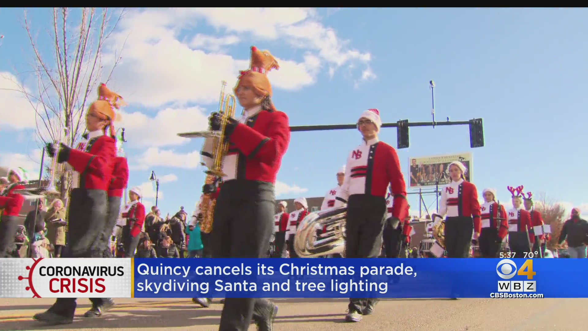 Quincy Christmas Parade 2020 Adress Quincy Cancels Christmas Parade, Skydiving Santa And Tree Lighting