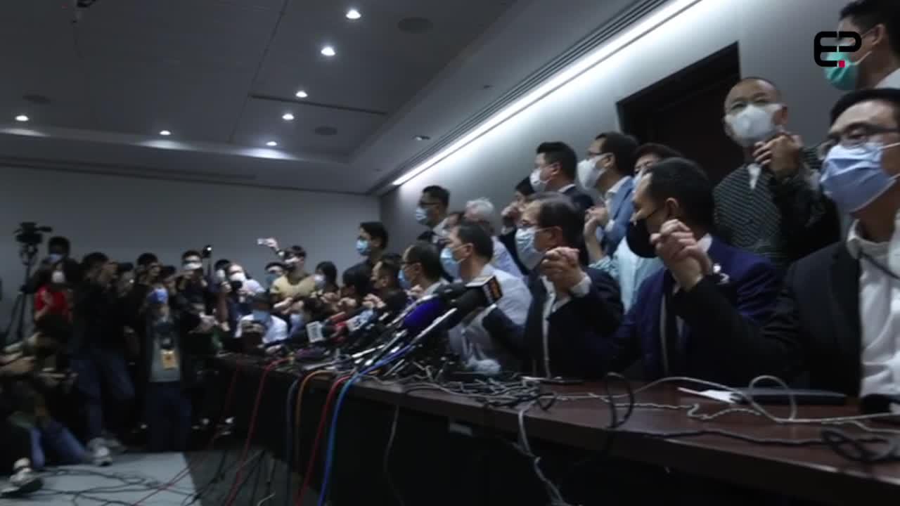(亞新社) 泛民立法會議員總辭