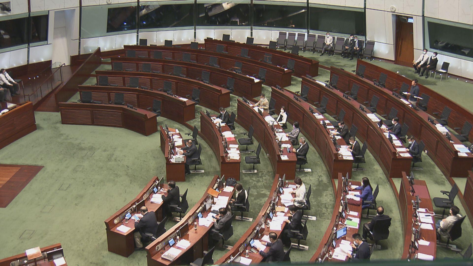立法會大會復會 民主派議員沒出席