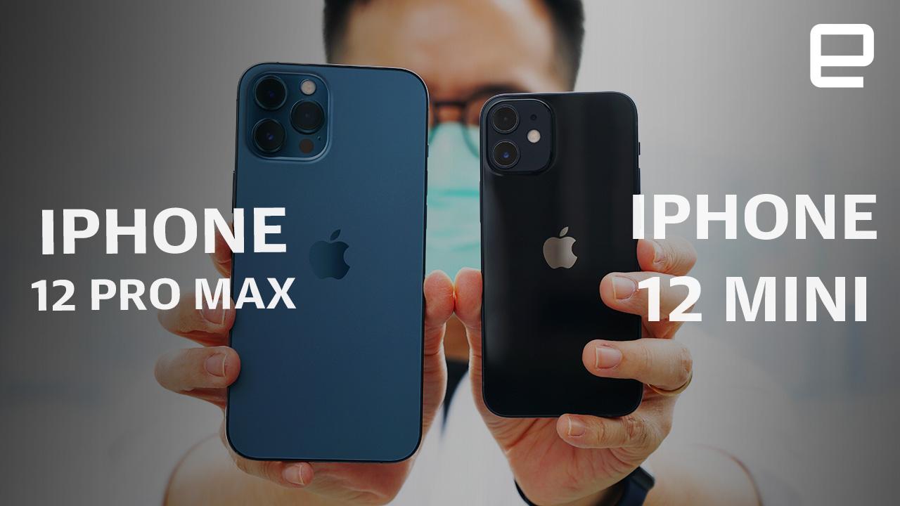 最大與最小:iPhone 12 Pro Max 和 iPhone 12 Mini 動手玩