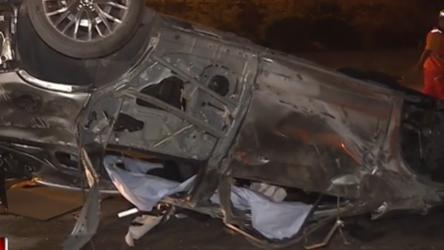 過彎衝出邊坡 休旅車國道翻覆4死2輕重傷