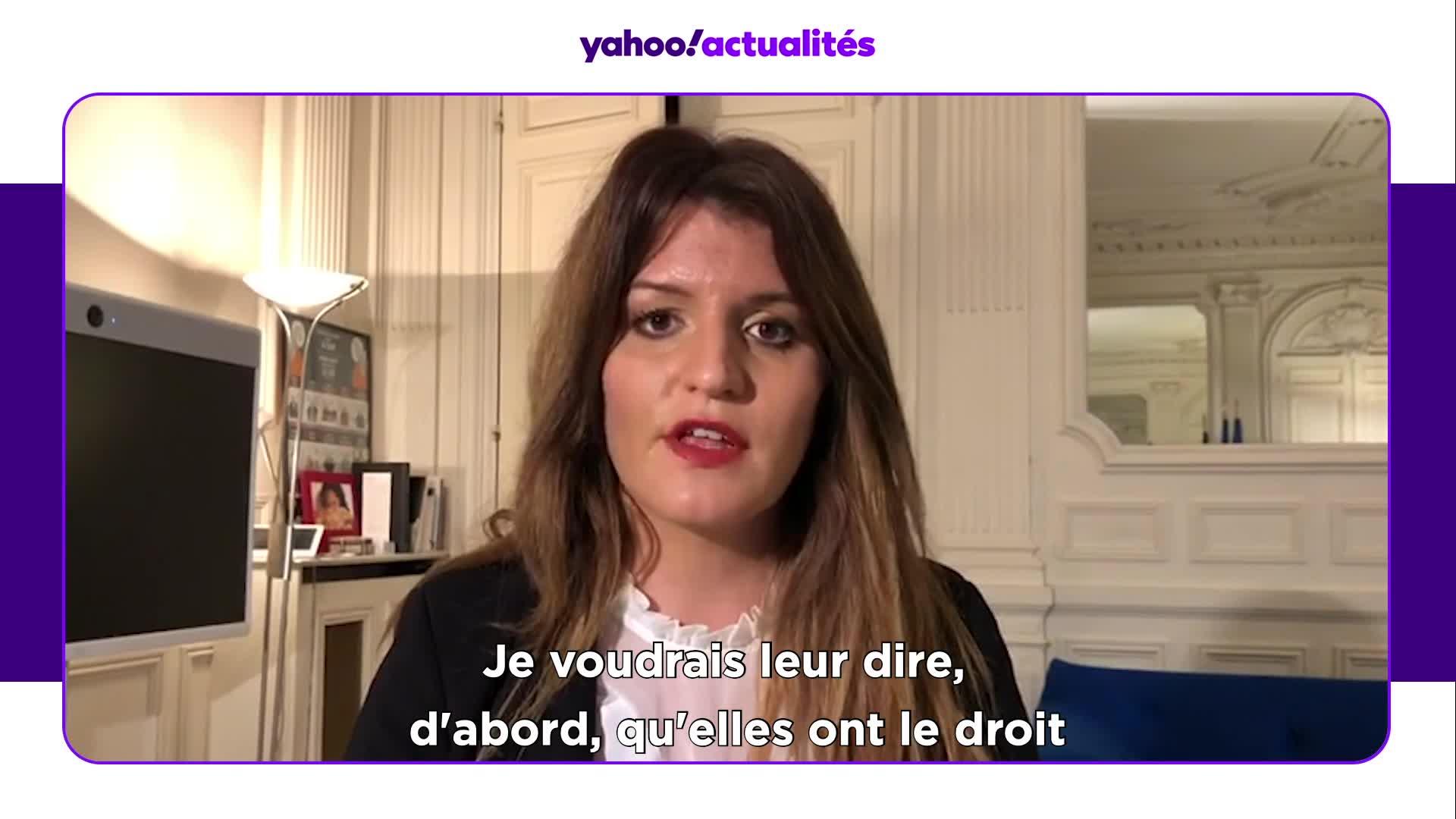 """Marlène Schiappa - Journée internationale pour l'élimination de la violence à l'égard des femmes : """"N'ayez pas honte. Ne vous cachez pas. Vous avez le droit de partir de chez vous, même sans attestation !"""""""