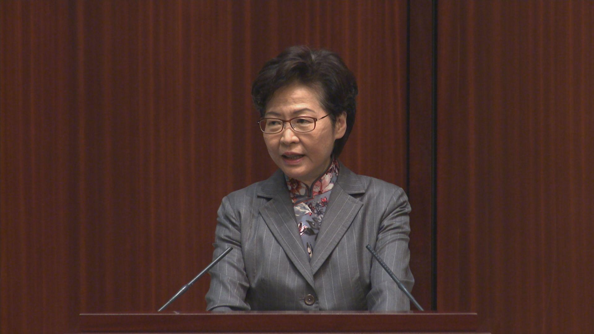 林鄭到立法會出席施政報告答問會 承諾會跟進議員意見
