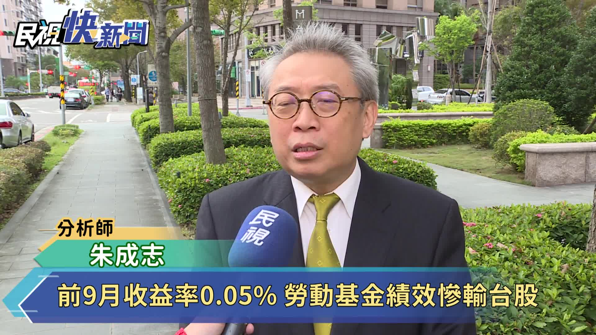 前9月收益率0.05% 勞動基金績效慘輸台股