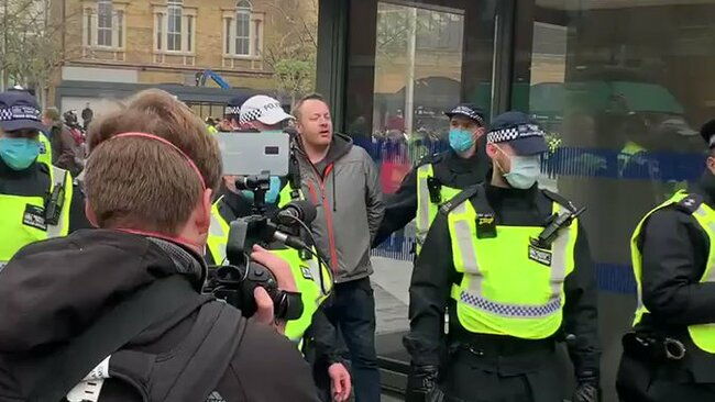Chants of 'Freedom' as Police Make Arrests at London Protest
