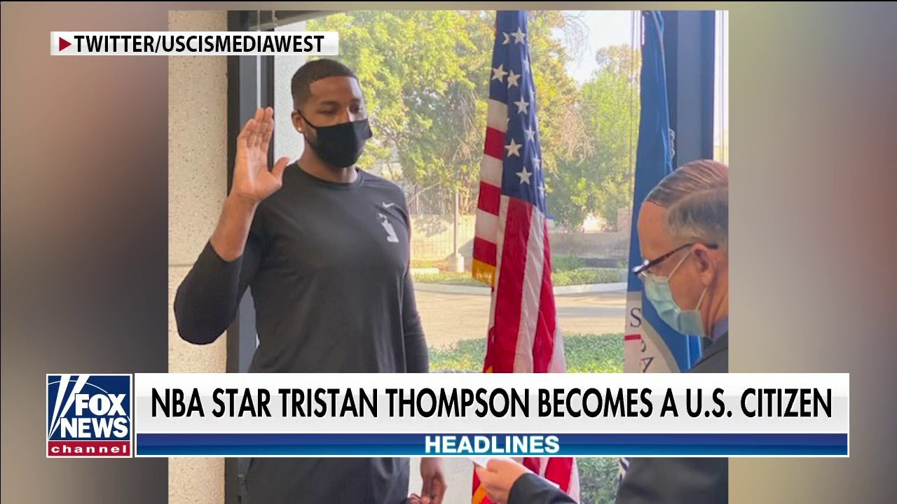 Boston Celtics yıldızı Tristan Thompson, ABD vatandaşı oldu
