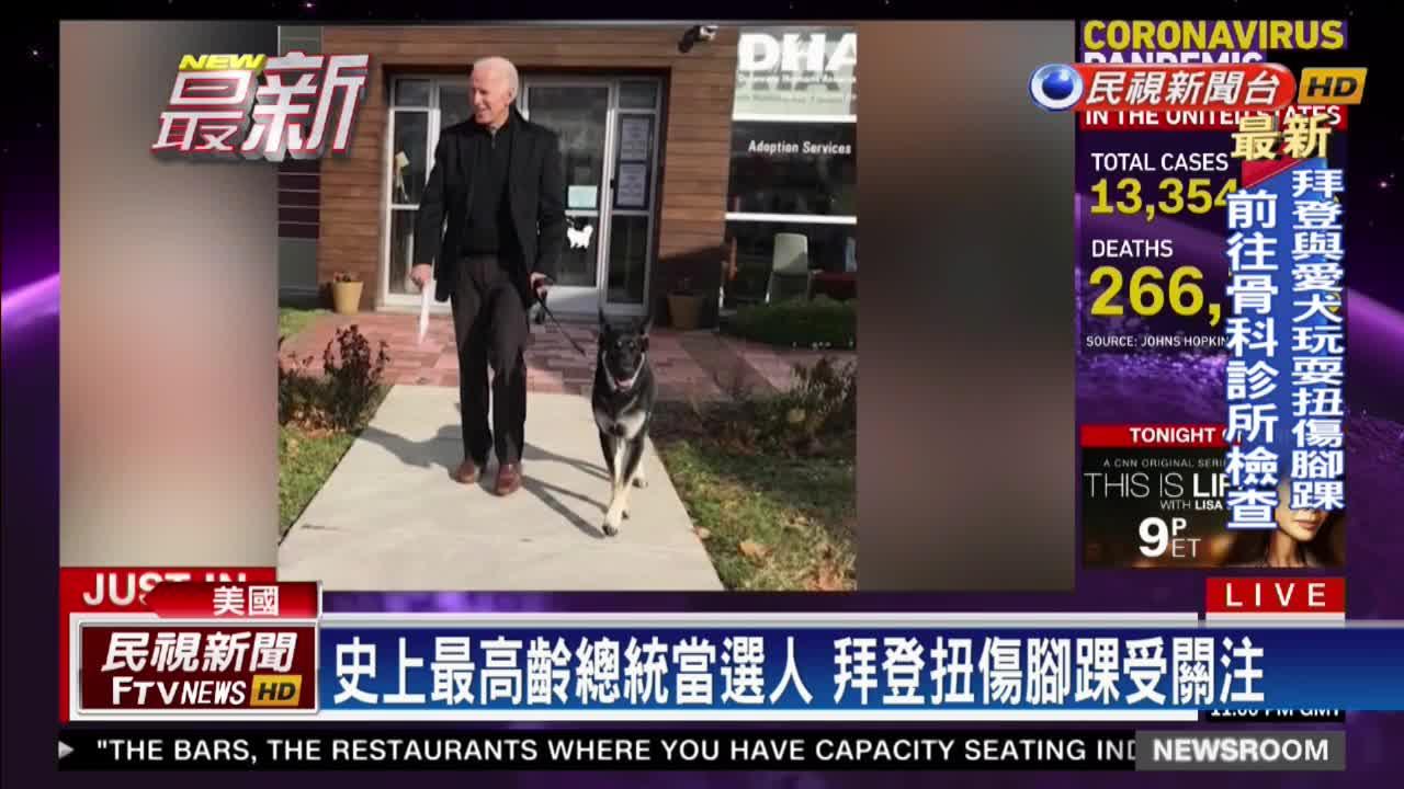 拜登與愛犬玩耍不慎滑倒 扭傷腳踝