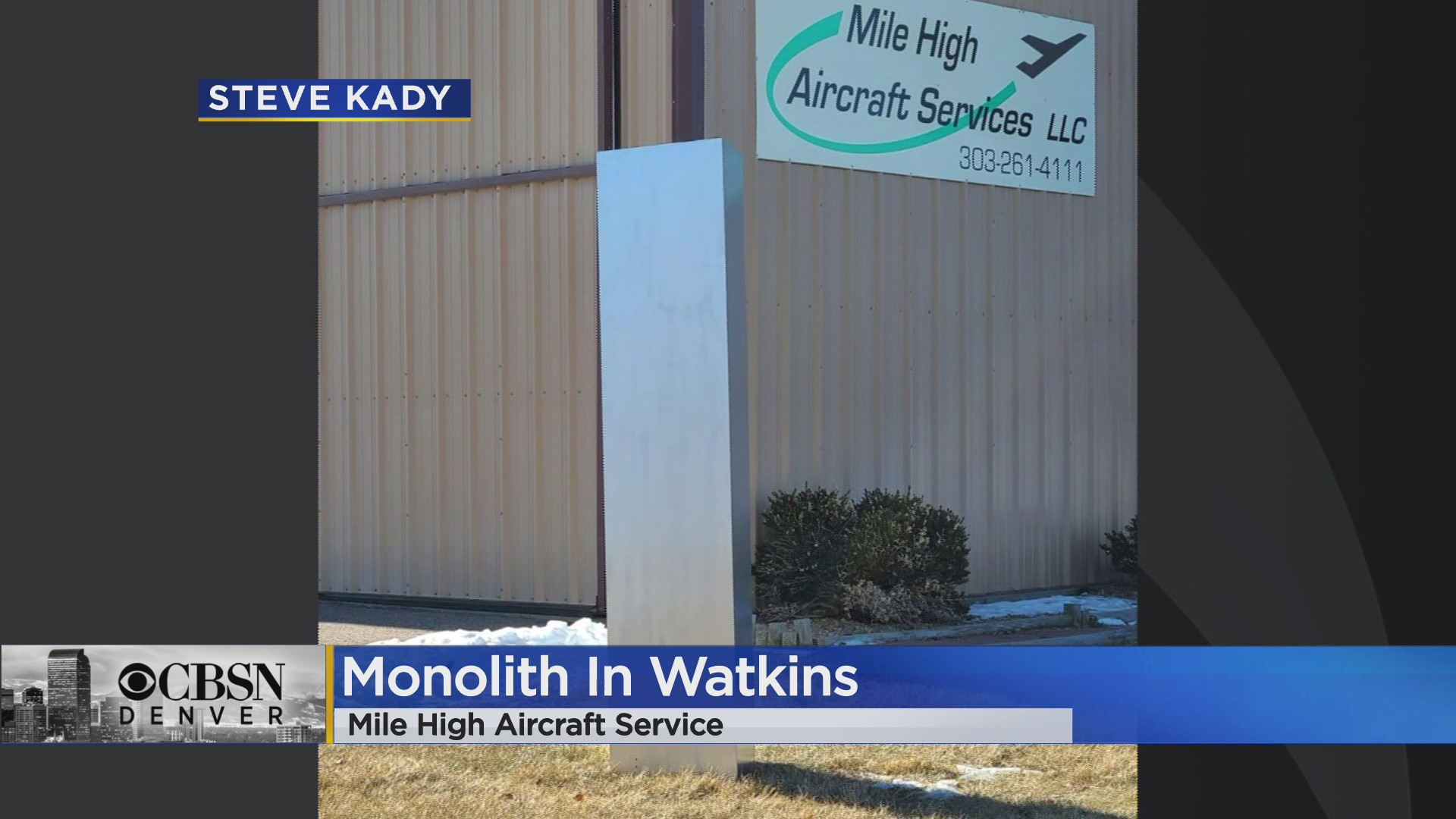 news.yahoo.com: Colorado Has Its Own Monolith In Watkins, There Is No Mystery Behind This One Though