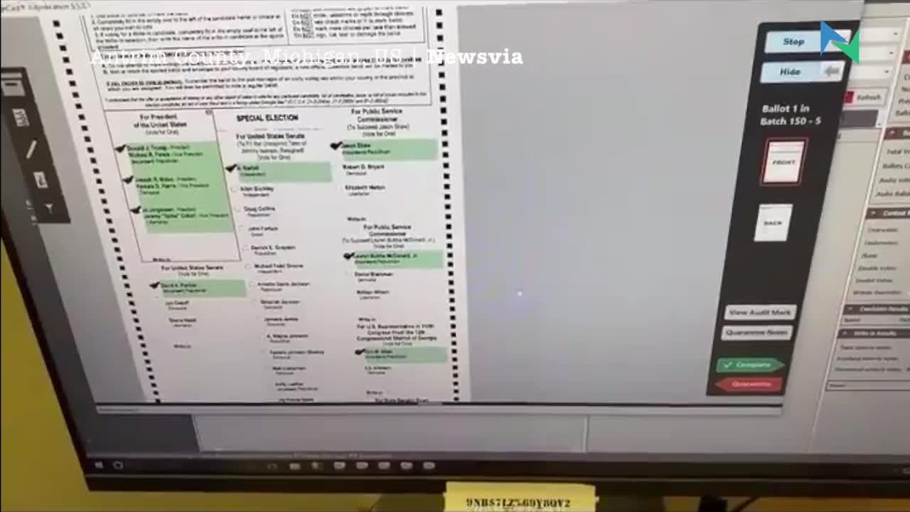 美國獨立第三方示範Dominion投票機作弊易過借火