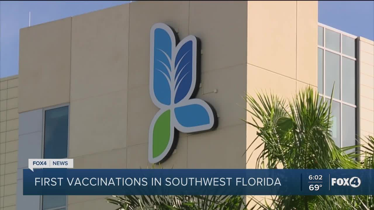 Lee Health Gives First Vaccinations