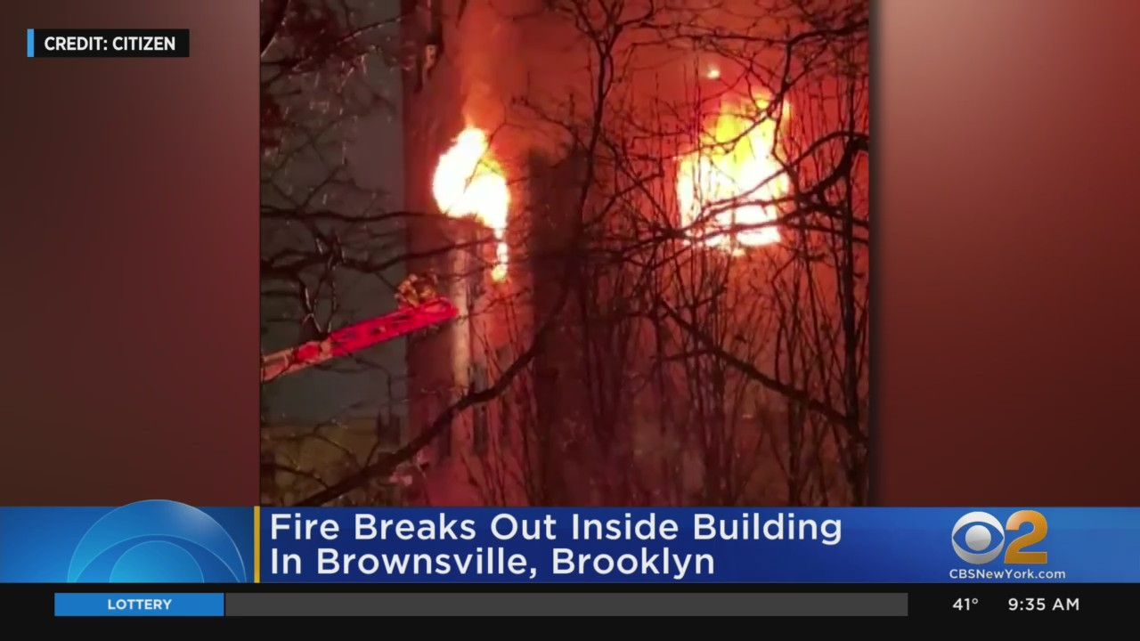 Fire Breaks Out At Building In Brownsville Brooklyn