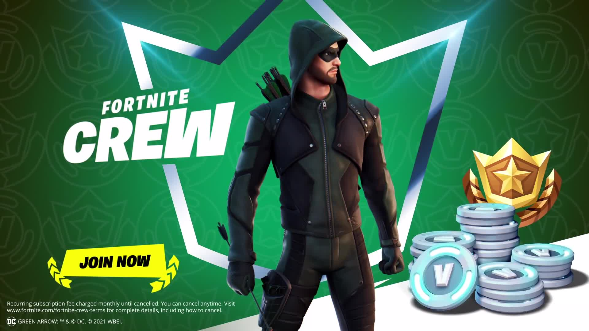 Green Arrow Fortntie : The latest dc comics skin is epic games have confirmed the green arrow fortnite skin will be in the next crew pack.