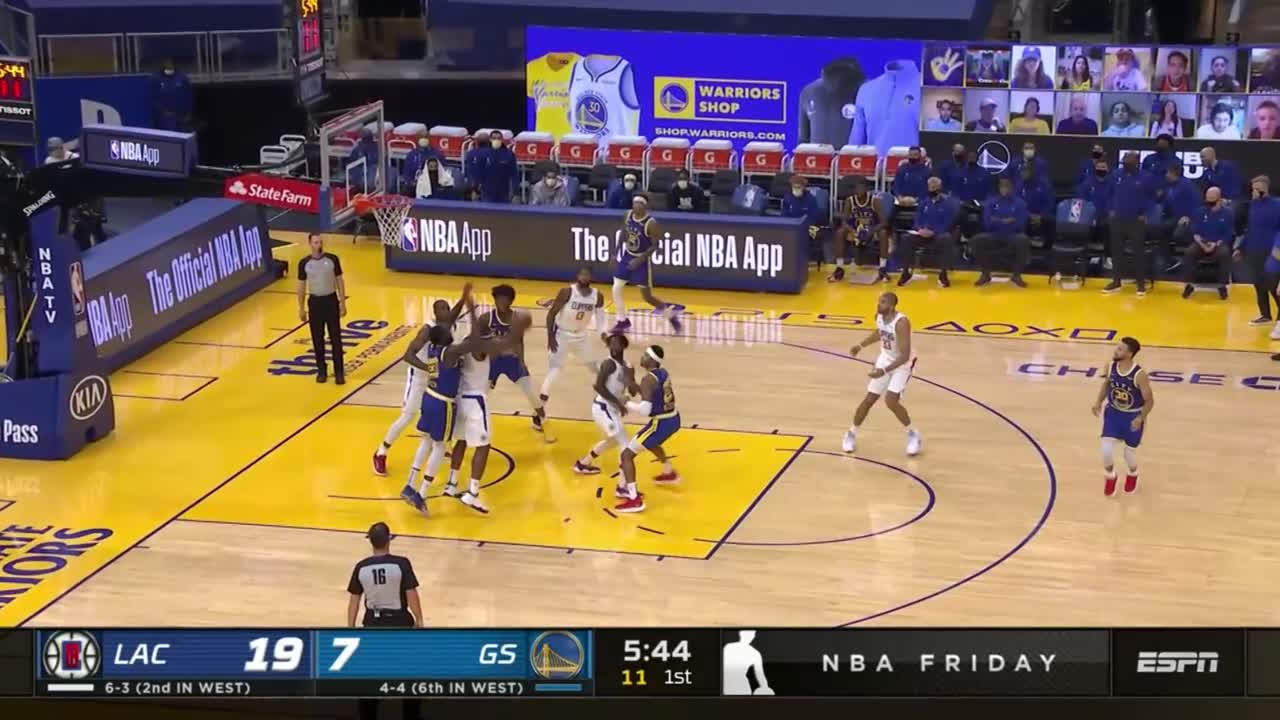 Nicolas Batum with a dunk vs the Golden State Warriors