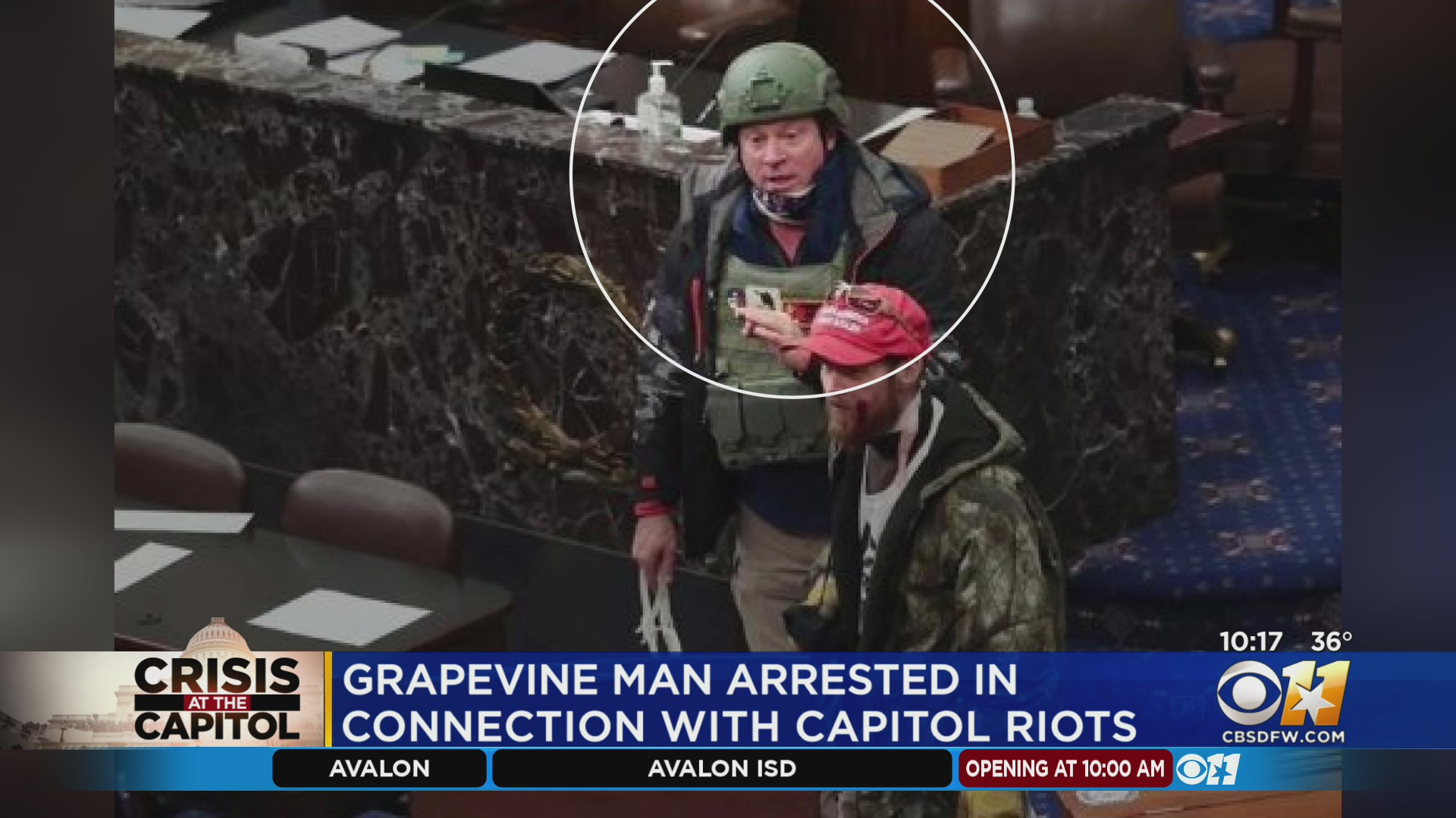 Ex-wife among several people who identified rioter from Grapevine at Capitol, federal warrant says