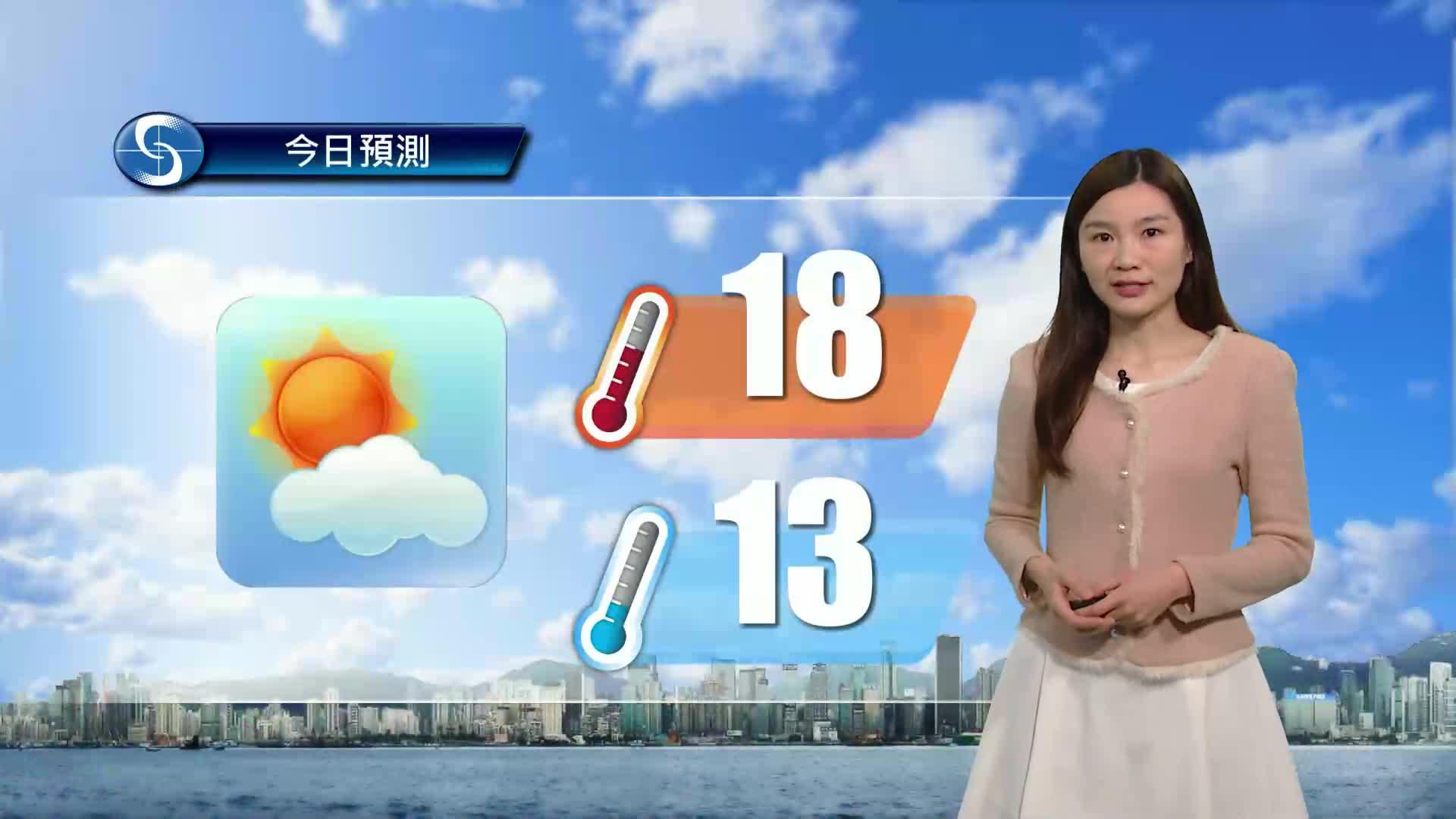 早晨天氣節目(01月17日上午8時) - 科學主任李鳳瑩