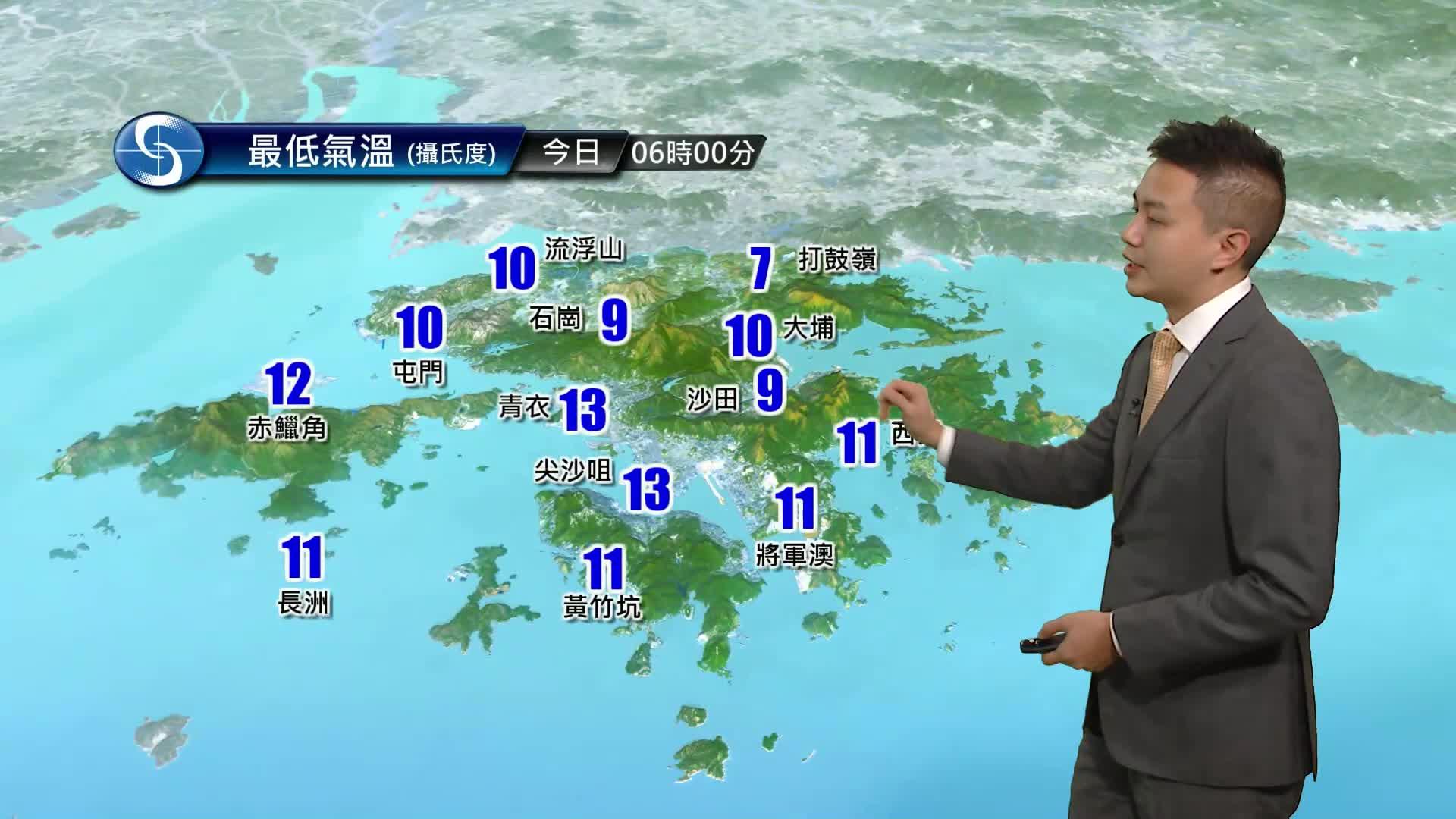 早晨天氣節目(01月19日上午7時) - 科學主任蔡子淳