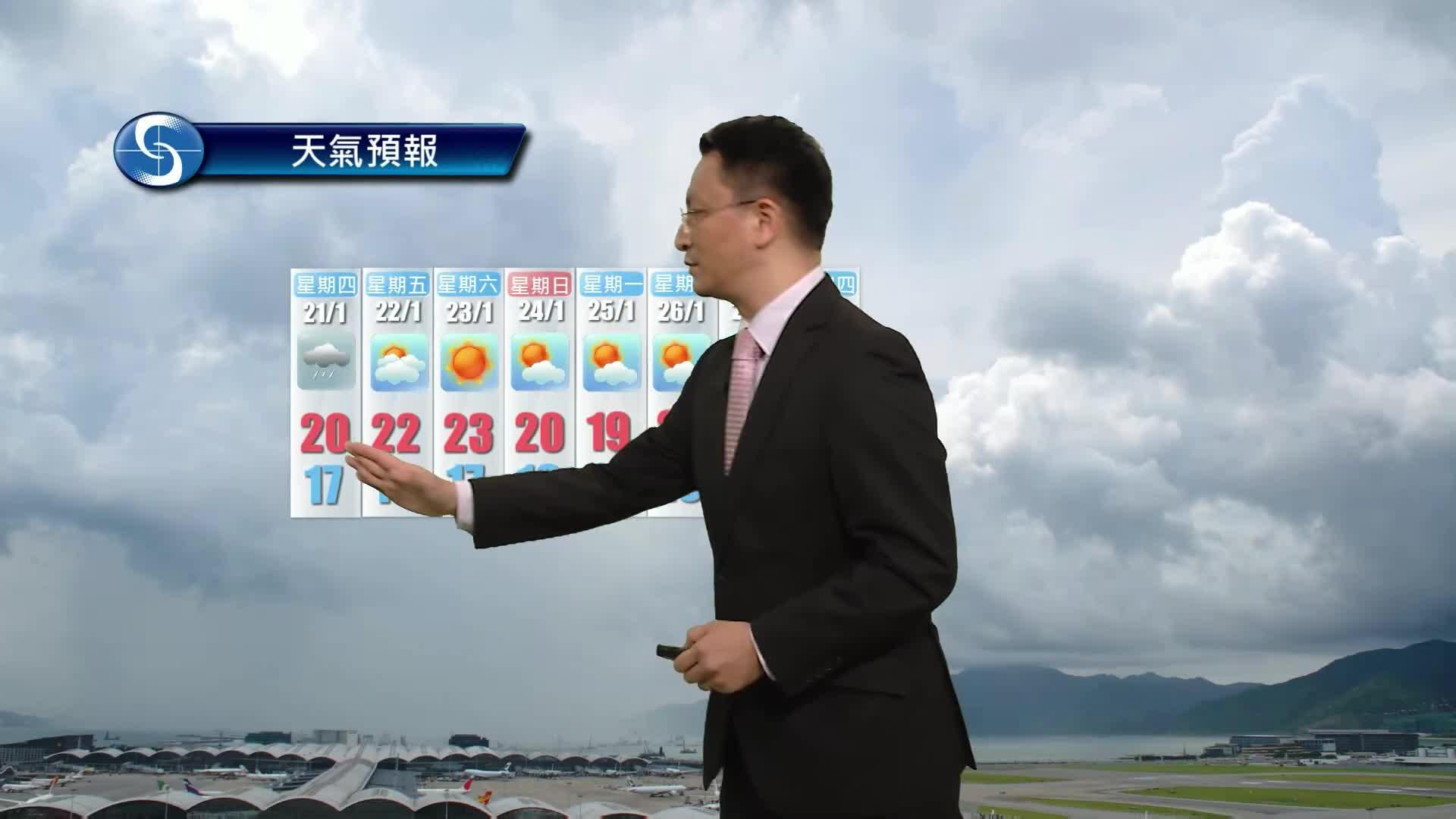 黃昏天氣節目(01月19日下午6時) - 總學術主任劉廸森