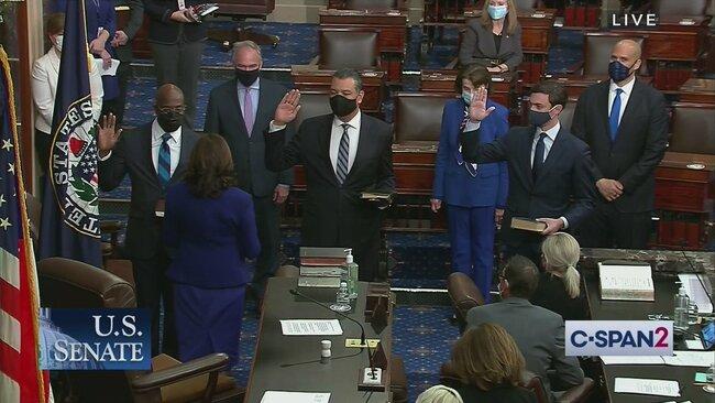 Vice President Harris Swears in Senators Ossoff, Warnock, and Padilla