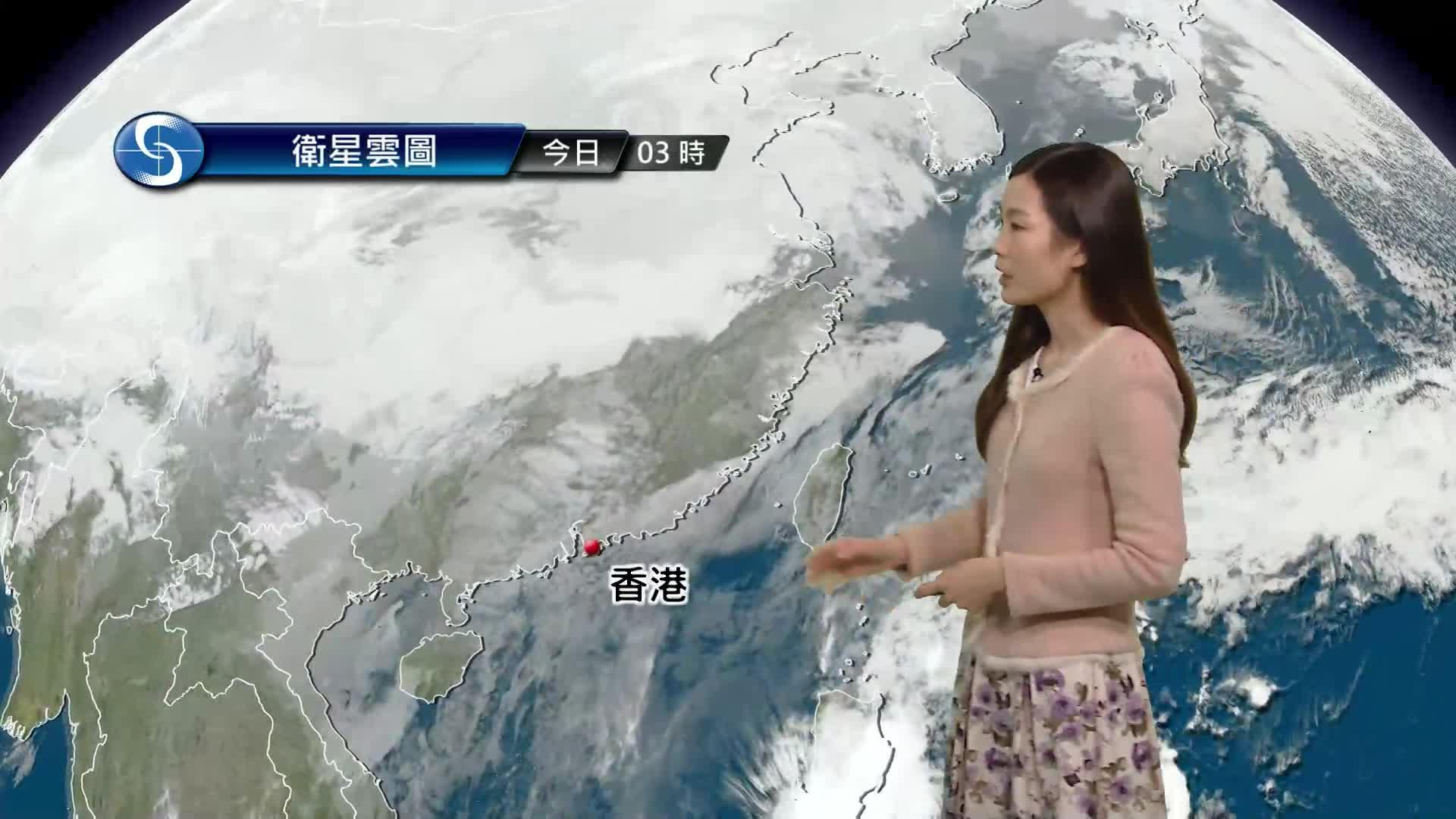 早晨天氣節目(01月21日上午8時) - 科學主任李鳳瑩