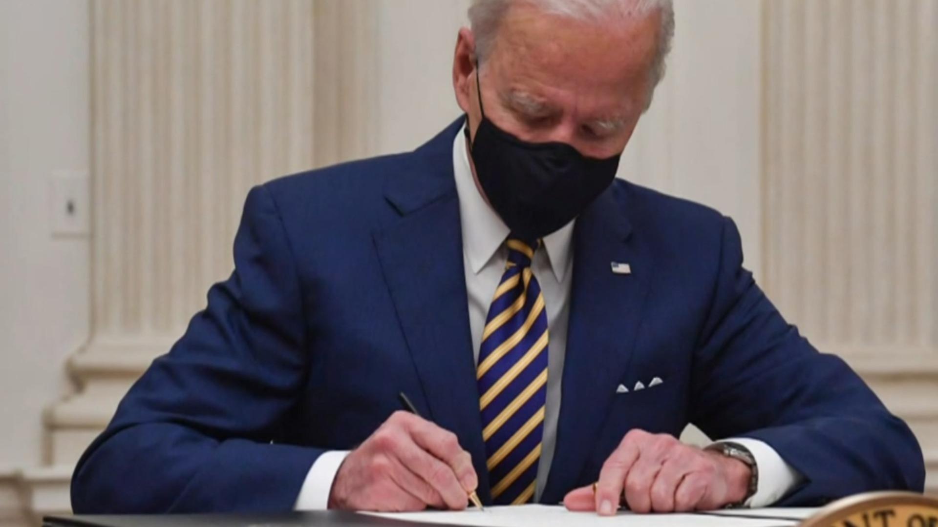 news.yahoo.com: President Biden kicks off term with flurry of executive orders