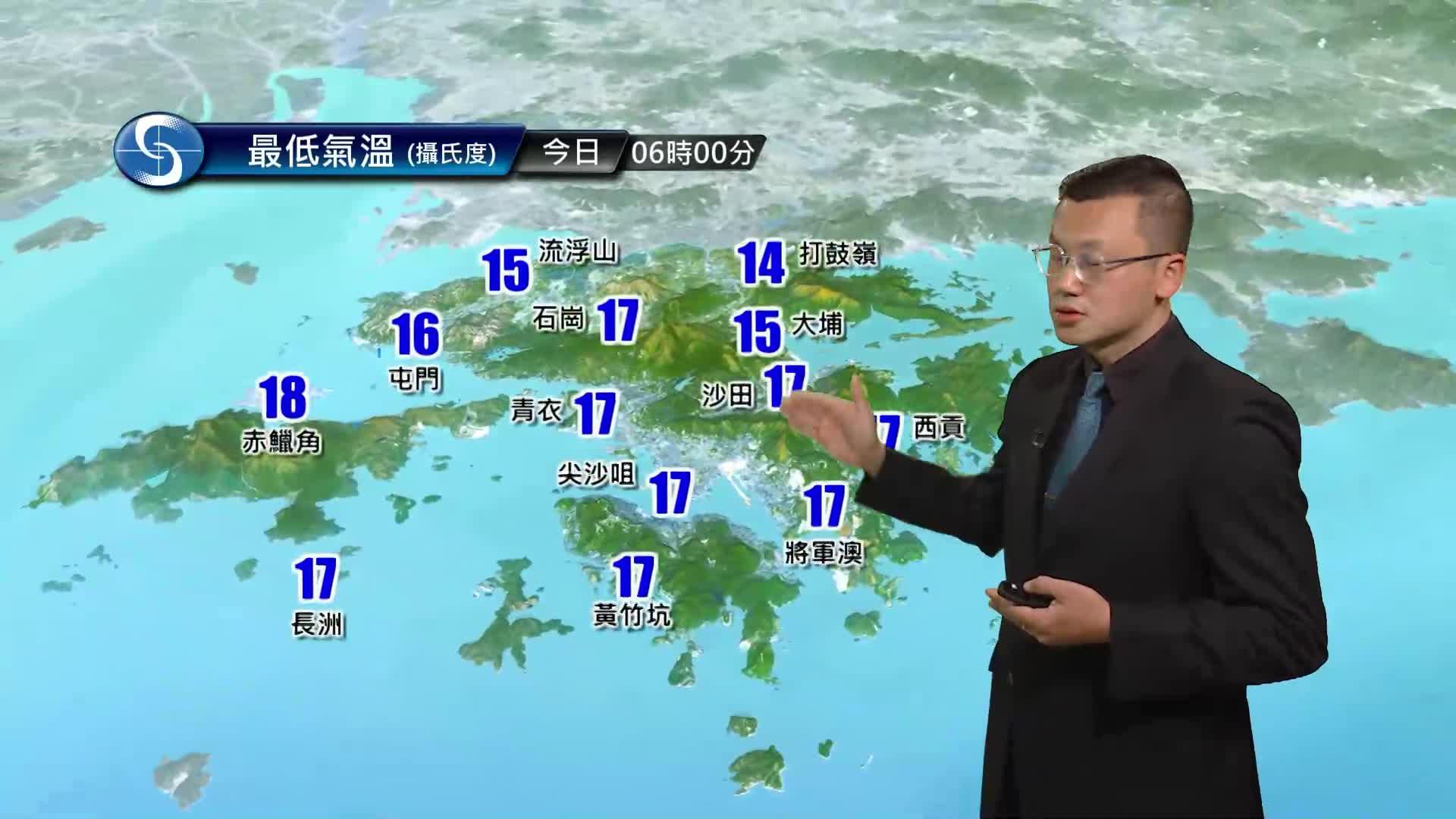 早晨天氣節目(01月25日上午7時) - 科學主任陳兆偉
