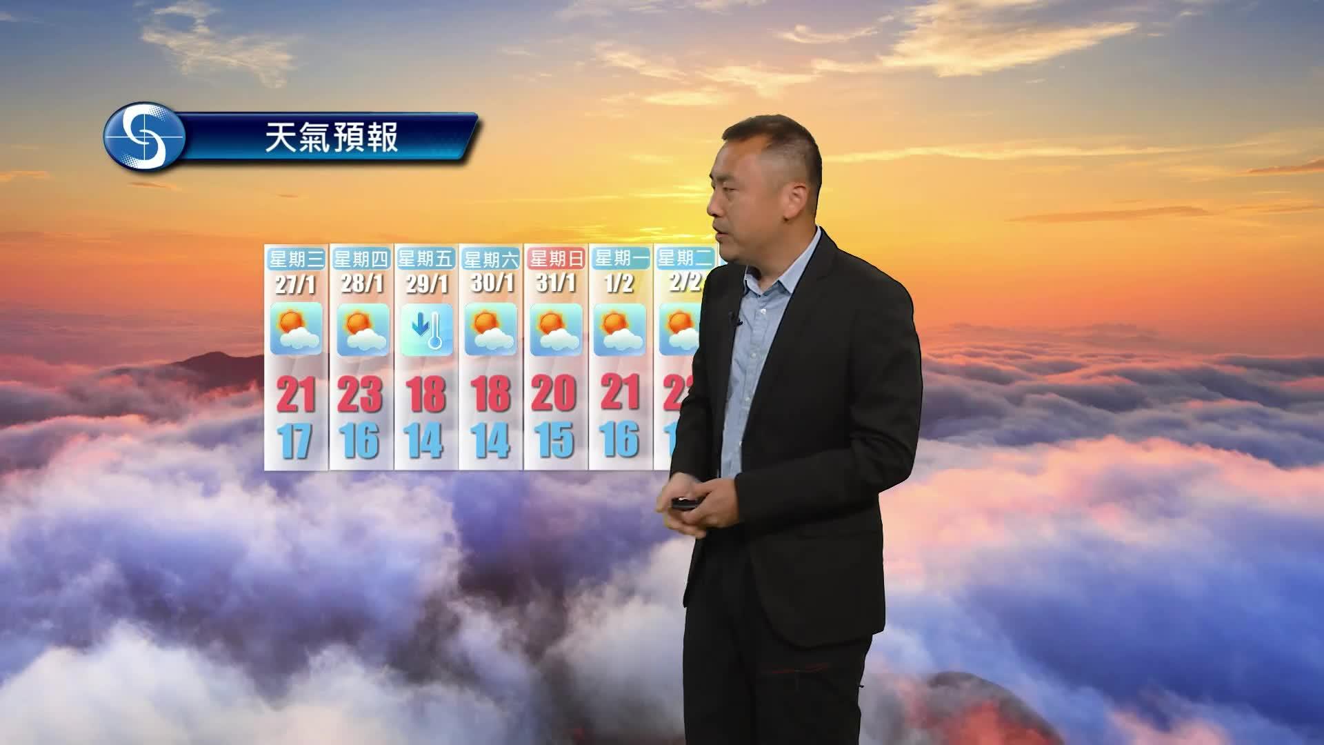 早晨天氣節目(01月26日上午7時) - 科學主任沈志泰
