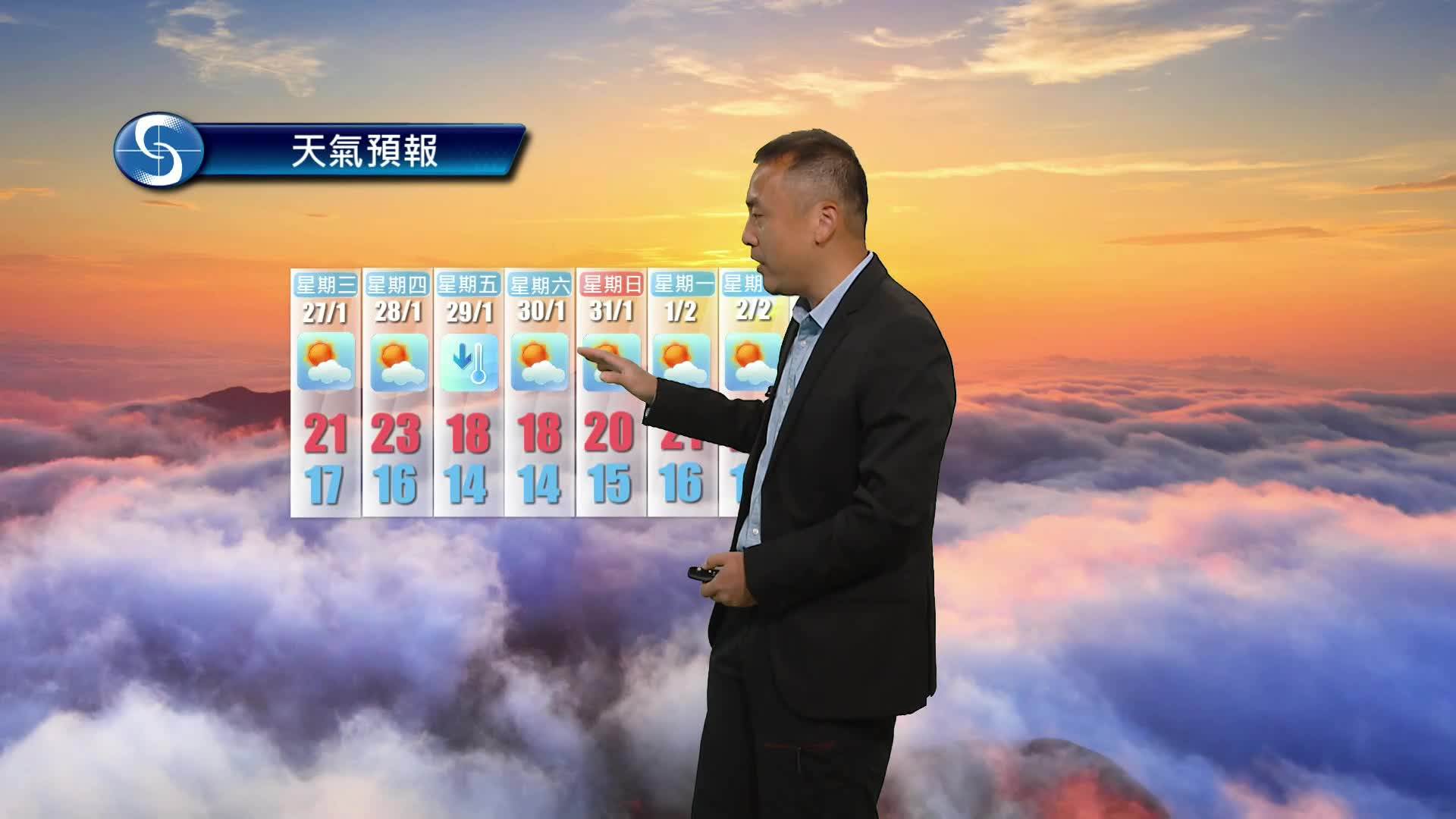 早晨天氣節目(01月26日上午8時) - 科學主任沈志泰