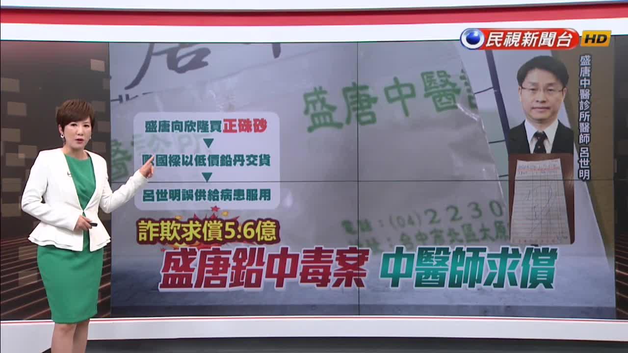 「硃砂」變「鉛丹」! 盛唐中醫反告藥廠求償5.7億