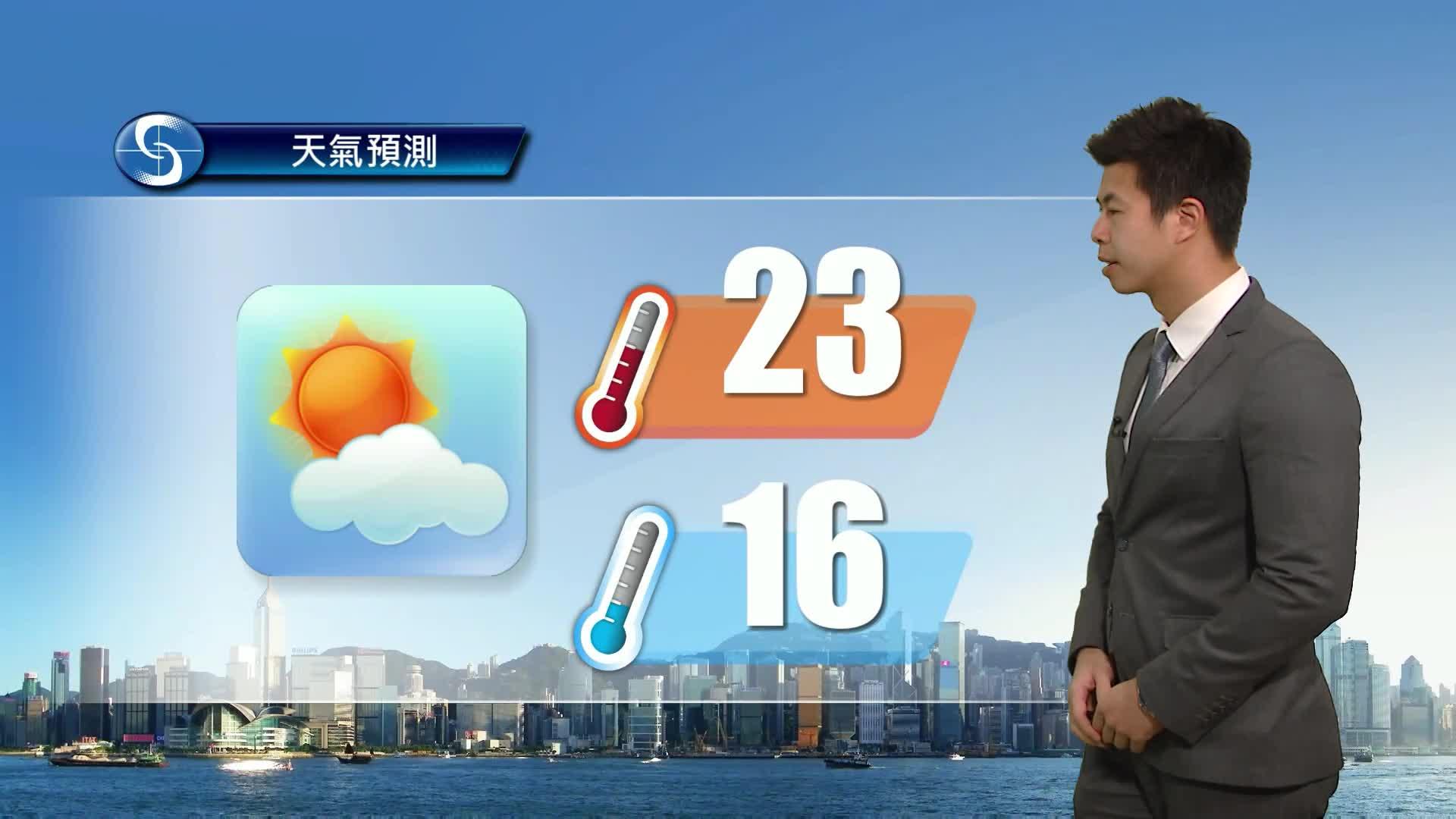 黃昏天氣節目(01月27日下午6時) - 科學主任黎宏駿