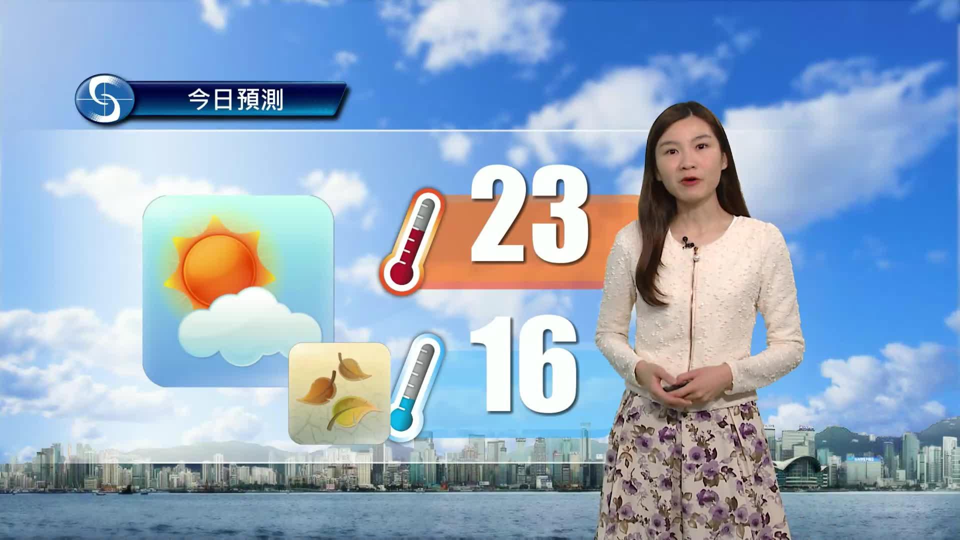早晨天氣節目(01月28日上午7時) - 科學主任李鳳瑩