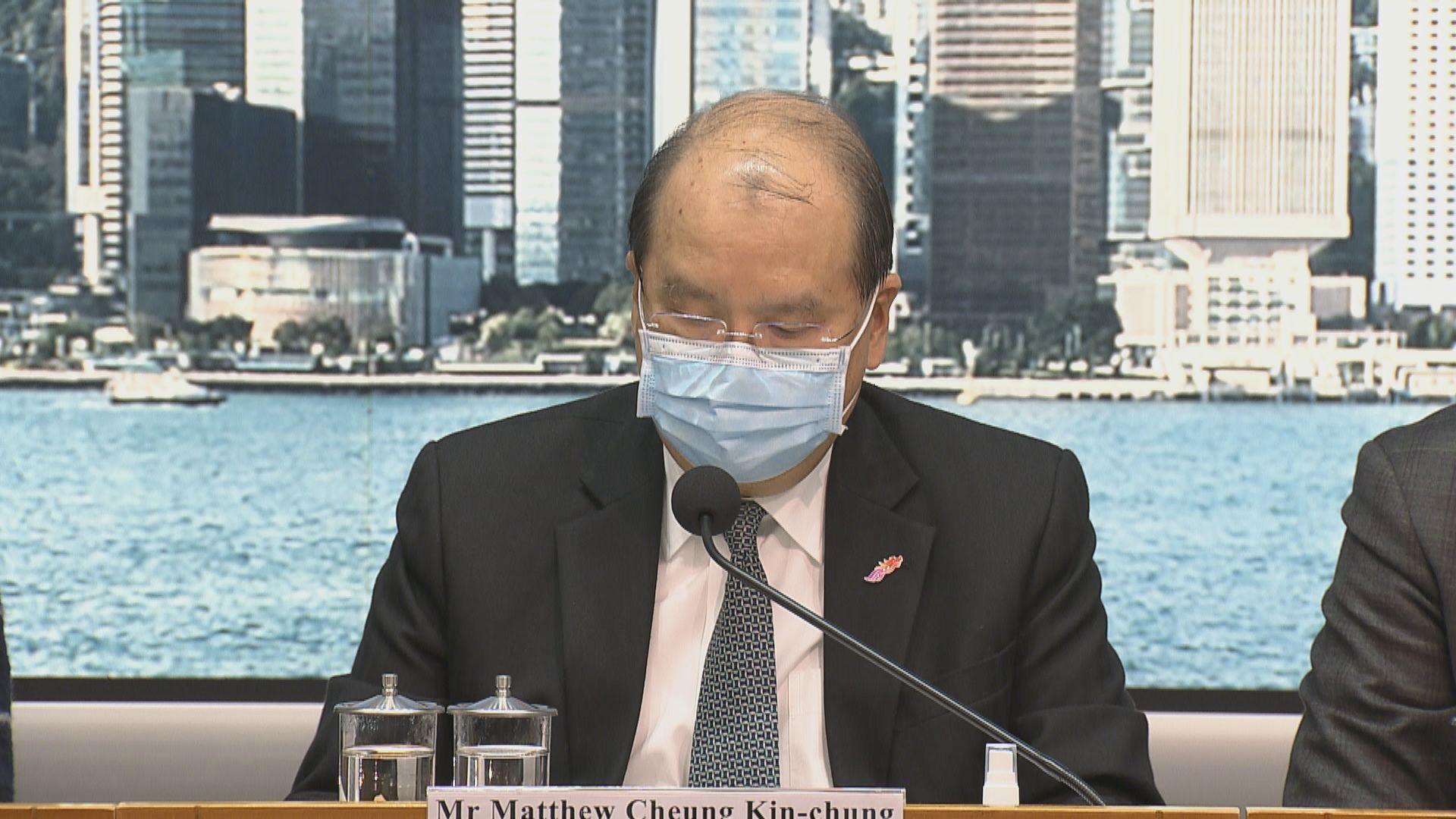 張建宗:有信心強檢措施可遏制疫情 讓停業處所新年後逐漸重開