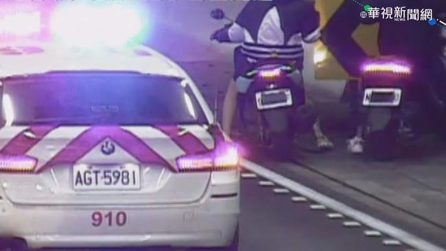 車牌「戴口罩」 2少年騎機車上雪隧挨罰