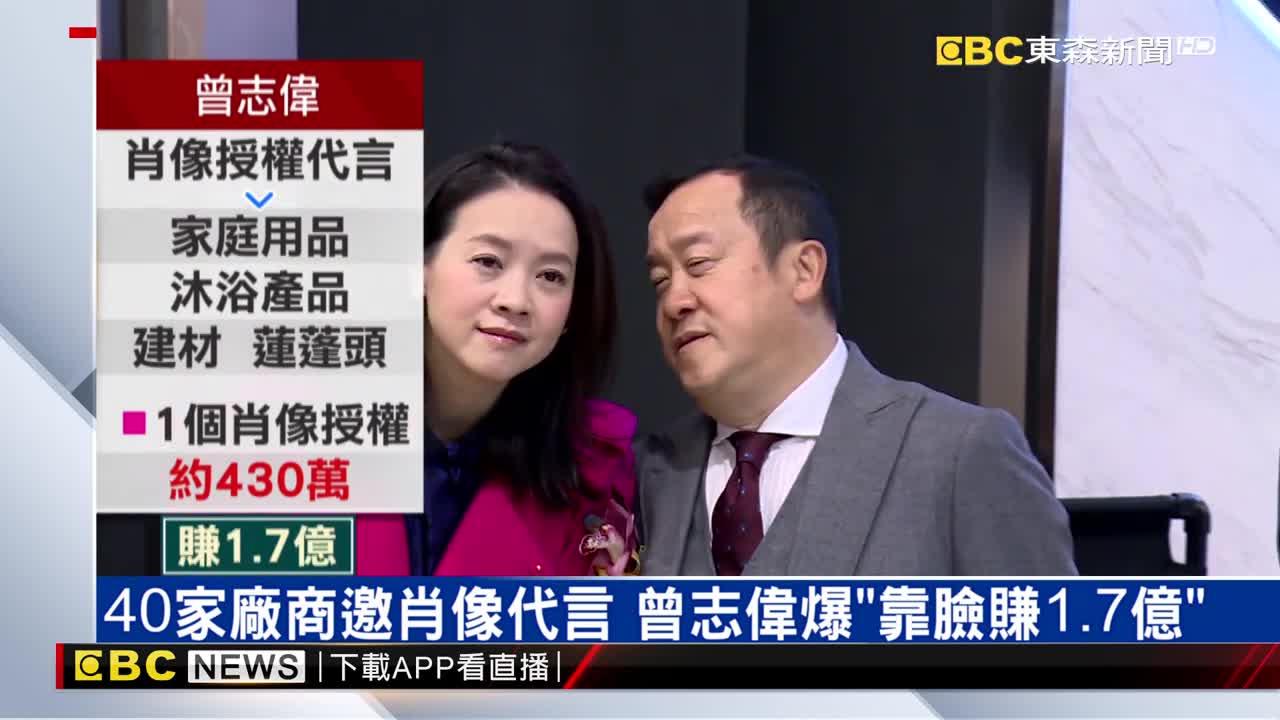 曾志偉爆「靠臉賺1.7億」 甄子丹肖像值2500萬