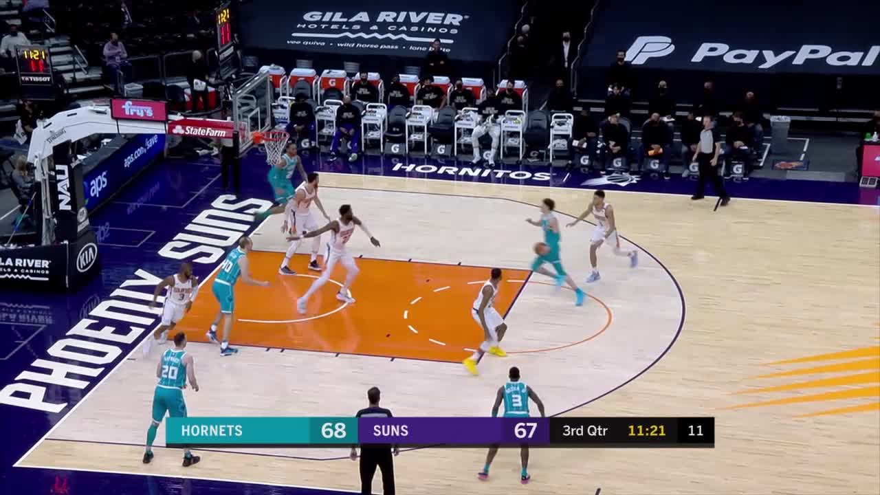 Cody Zeller with a dunk vs the Phoenix Suns