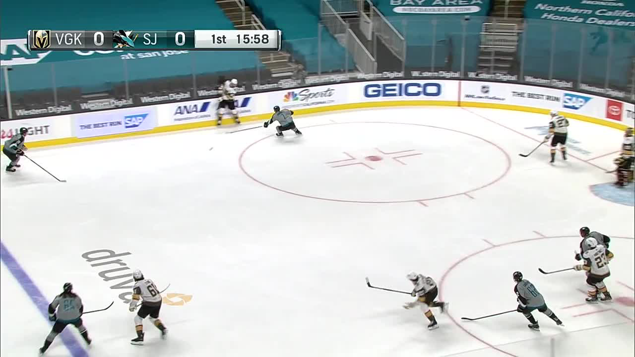 a Goalie Save from San Jose Sharks vs. Vegas Golden Knights