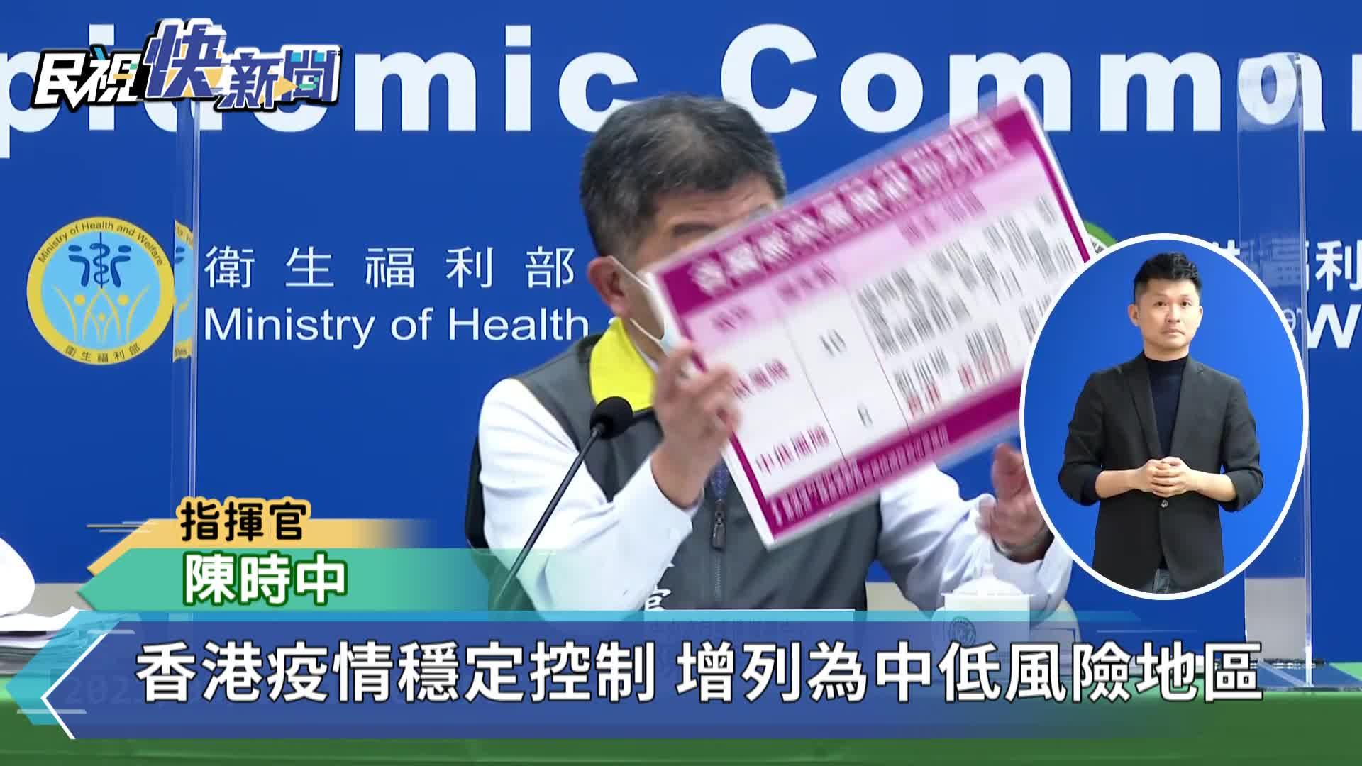 快新聞/香港疫情控制列「中低風險國家」 東帝汶、模里西斯爆本土疫情被降級