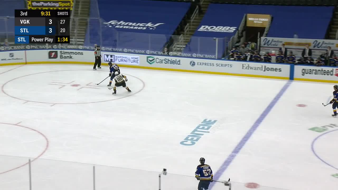 David Perron with a Goal vs. Vegas Golden Knights