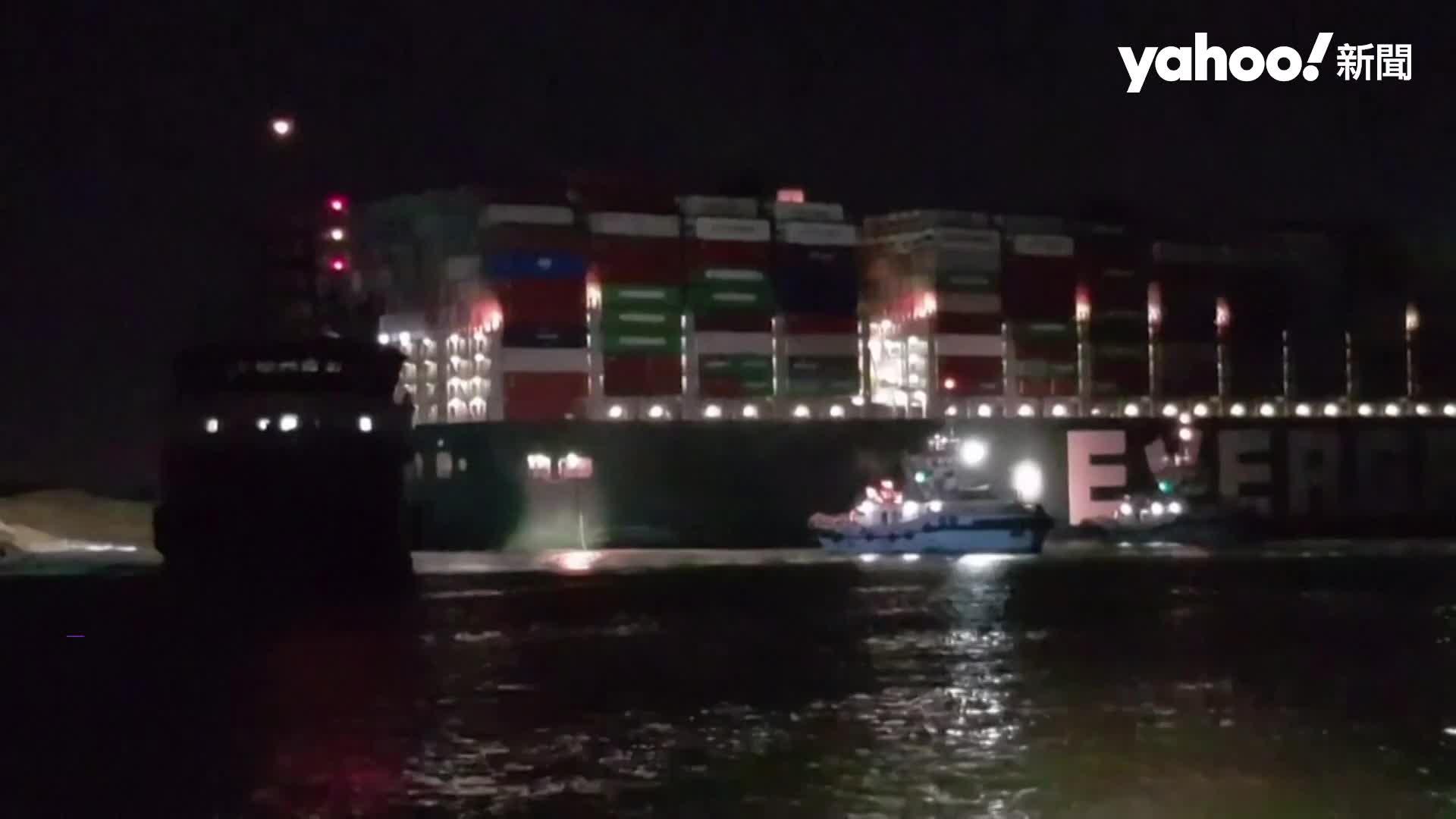 長榮貨運卡蘇伊士運河第六天 挖土機工作現場直擊