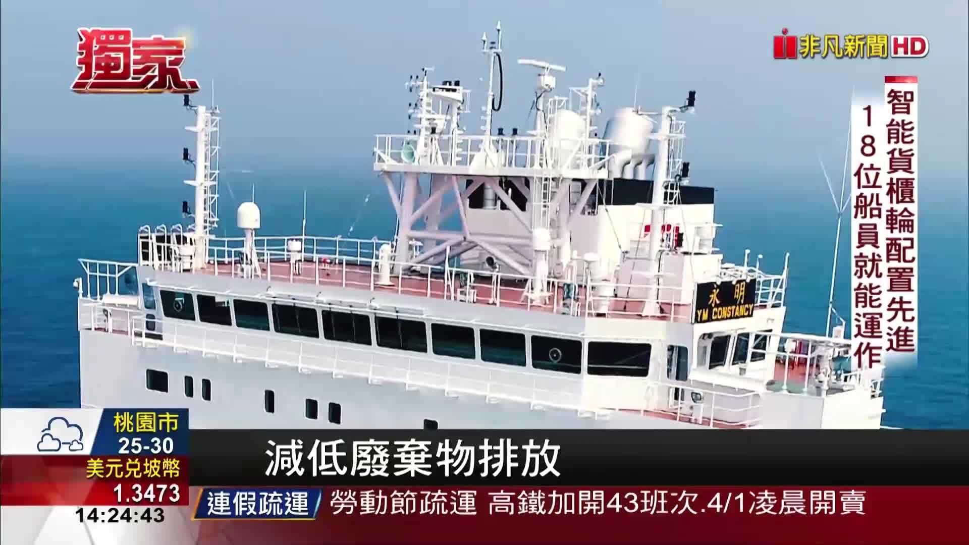 登上陽明海運永明輪! 智能貨櫃輪新科技