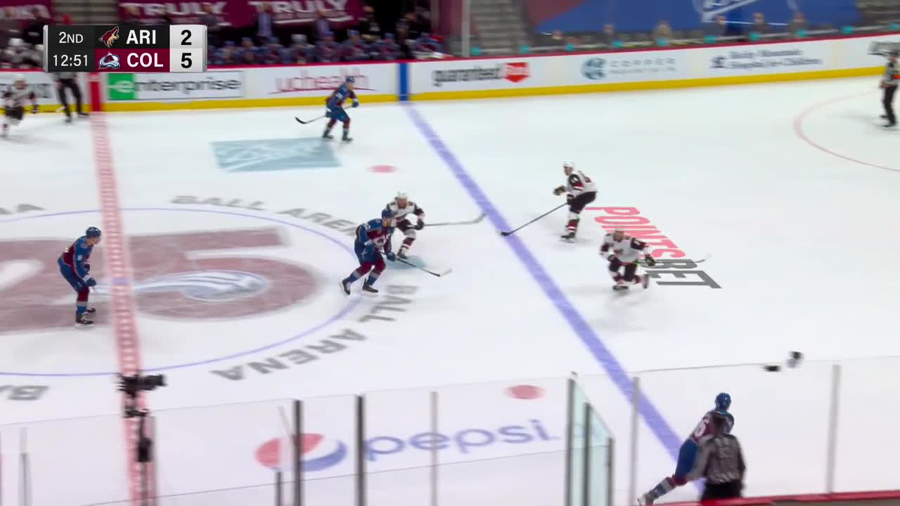 a Spectacular Goalie Save from Colorado Avalanche vs. Arizona Coyotes