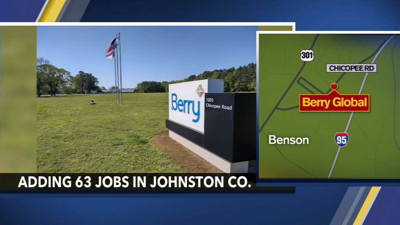 Manufacturer expanding to bring 63 new jobs to Johnston County - Yahoo News