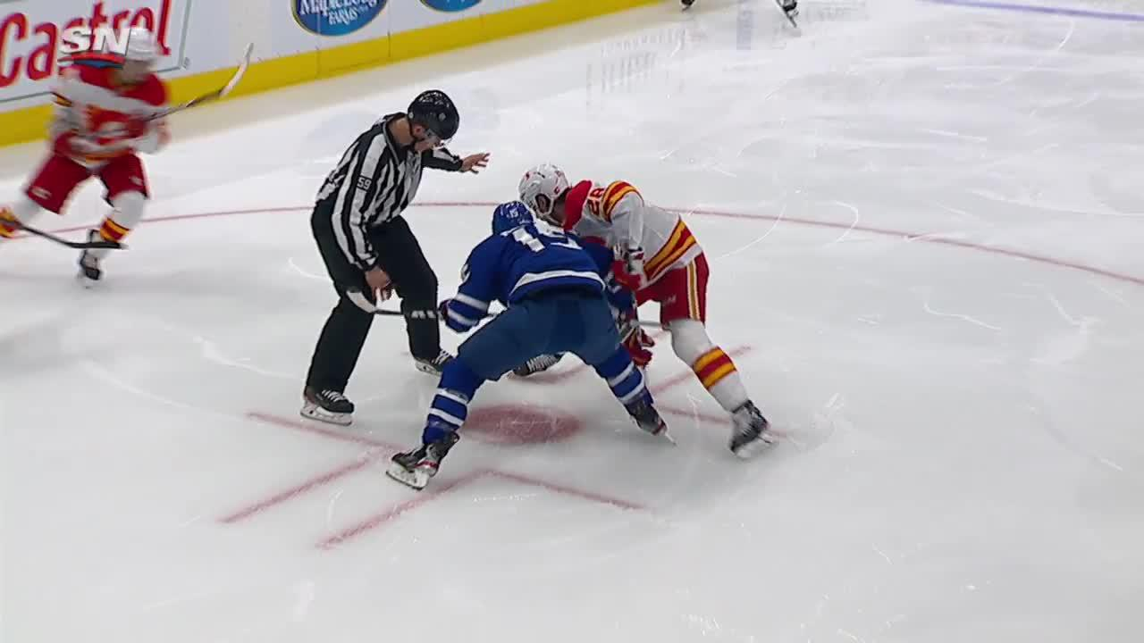 a Goal from Toronto Maple Leafs vs. Calgary Flames
