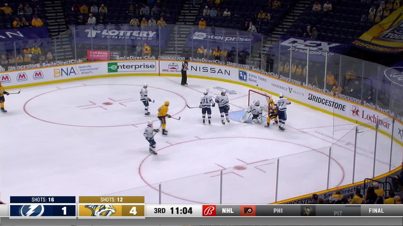 a Goalie Save from Nashville Predators vs. Tampa Bay Lightning
