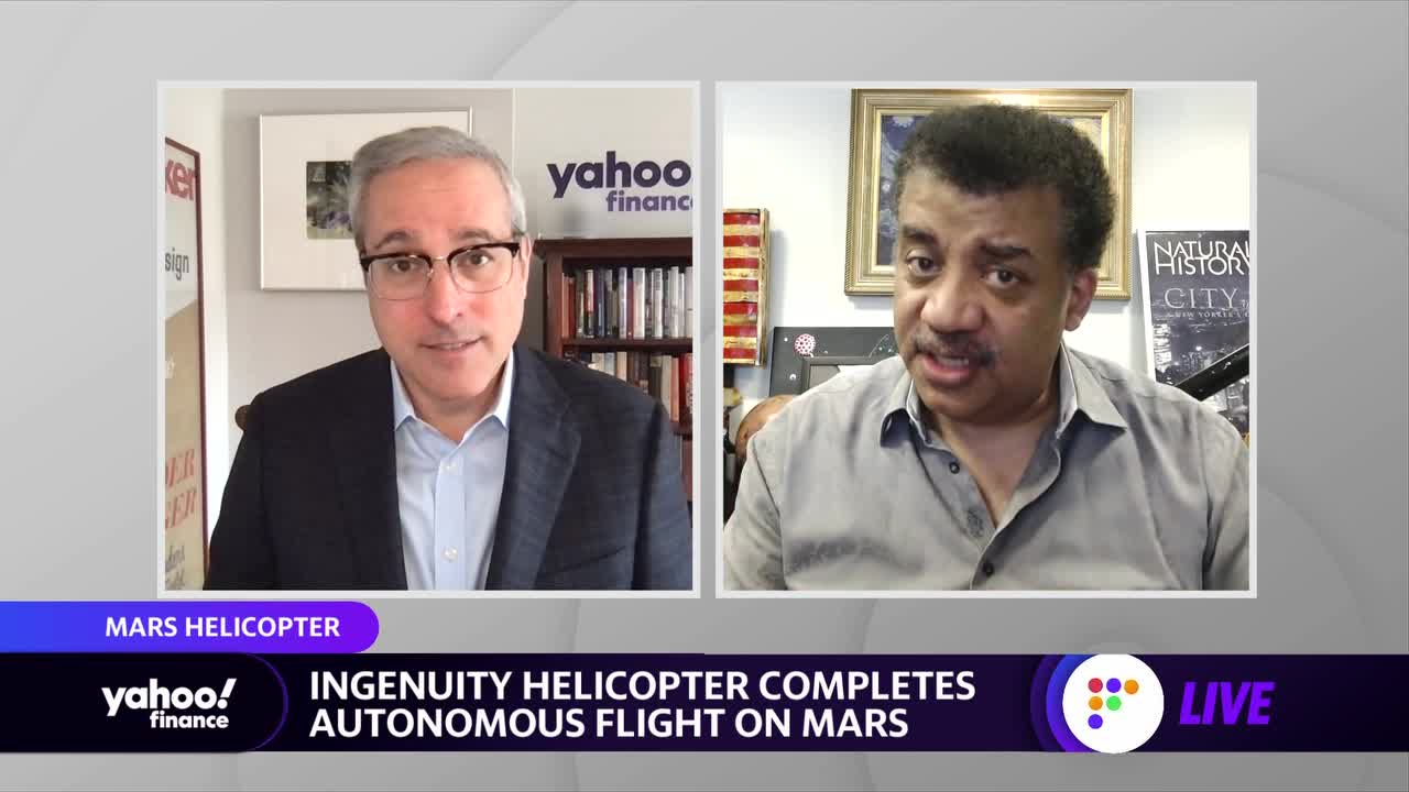 money.yahoo.com: Neil DeGrasse Tyson: Mars Ingenuity's successful flight a 'bad—s accomplishment'