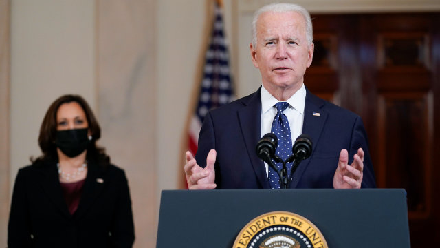 Biden and Harris call for action after the verdict against Derek Chauvin