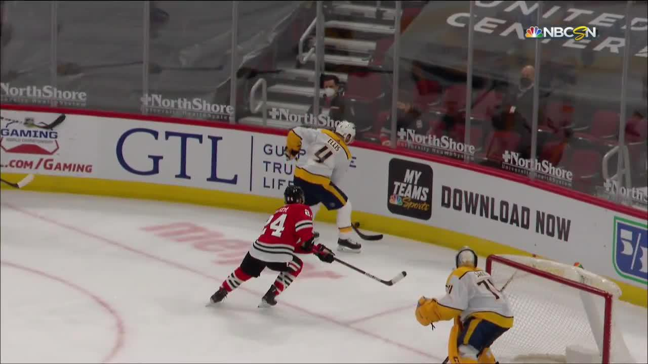 Dominik Kubalik with a Goal vs. Nashville Predators
